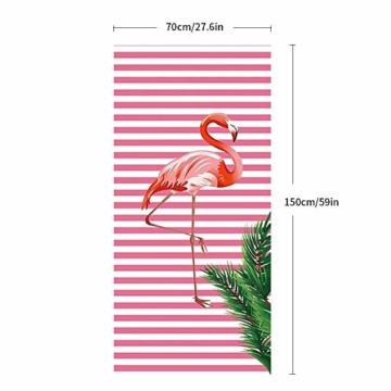 Hoomall Strandtuch Stranddecke Picknickdecke Campingdecke Flamingo Rosa Kokosnussbaum Pool Handtuch Badetuch auf Schwimmen Strand 70cmx150cm/27.6