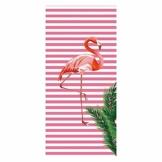 "Hoomall Strandtuch Stranddecke Picknickdecke Campingdecke Flamingo Rosa Kokosnussbaum Pool Handtuch Badetuch auf Schwimmen Strand 70cmx150cm/27.6"" x59 (Rosa) - 1"