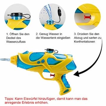 infinitoo 2 Stück Wasserpistole Spritzpistolen Set 200ml Water Gun mit 8-10 Meter Reichweite Blaster Spielzeug für Kinder Party Strand Pool etc. - 4
