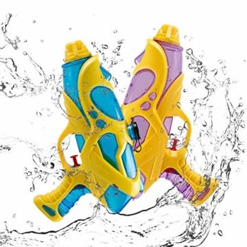 infinitoo 2 Stück Wasserpistole Spritzpistolen Set 200ml Water Gun mit 8-10 Meter Reichweite Blaster Spielzeug für Kinder Party Strand Pool etc. - 1