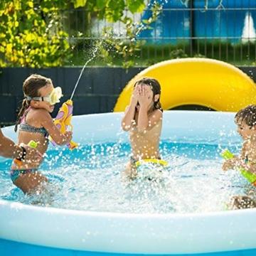 infinitoo 2 Stück Wasserpistole Spritzpistolen Set 200ml Water Gun mit 8-10 Meter Reichweite Blaster Spielzeug für Kinder Party Strand Pool etc. - 5