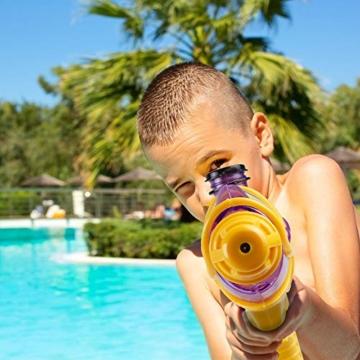 infinitoo 2 Stück Wasserpistole Spritzpistolen Set 200ml Water Gun mit 8-10 Meter Reichweite Blaster Spielzeug für Kinder Party Strand Pool etc. - 7