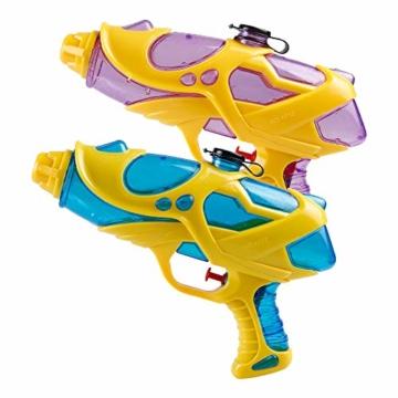 infinitoo 2 Stück Wasserpistole Spritzpistolen Set 200ml Water Gun mit 8-10 Meter Reichweite Blaster Spielzeug für Kinder Party Strand Pool etc. - 8