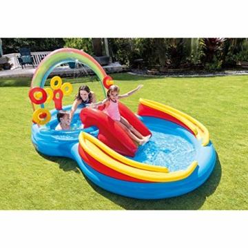 Intex Rainbow Ring Play Center - Kinder Aufstellpool - Planschbecken - 297 x 193 x 135 cm -  Für 3+ Jahre - 2