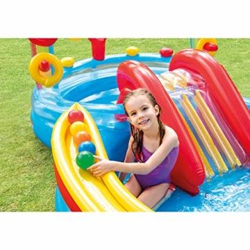 Intex Rainbow Ring Play Center - Kinder Aufstellpool - Planschbecken - 297 x 193 x 135 cm -  Für 3+ Jahre - 3
