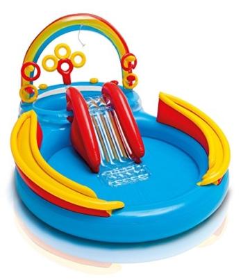 Intex Rainbow Ring Play Center - Kinder Aufstellpool - Planschbecken - 297 x 193 x 135 cm -  Für 3+ Jahre - 8