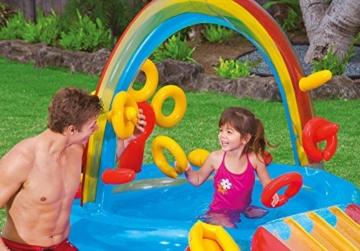 Intex Rainbow Ring Play Center - Kinder Aufstellpool - Planschbecken - 297 x 193 x 135 cm -  Für 3+ Jahre - 9