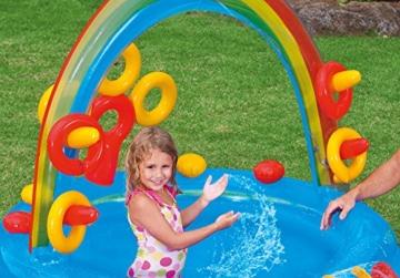 Intex Rainbow Ring Play Center - Kinder Aufstellpool - Planschbecken - 297 x 193 x 135 cm -  Für 3+ Jahre - 10