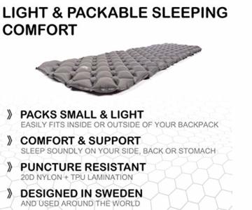 JÖKEL Isomatte Camping, Schlafmatte Leicht kleines packmaß, Aufblasbare Bequem Luftmatratze, Grau Faltbar und Kompakt, Ultraleicht-e, Trag und Klappbar Liegematte, für Outdoor Wandern und Camping - 3
