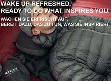 JÖKEL Isomatte Camping, Schlafmatte Leicht kleines packmaß, Aufblasbare Bequem Luftmatratze, Grau Faltbar und Kompakt, Ultraleicht-e, Trag und Klappbar Liegematte, für Outdoor Wandern und Camping - 5
