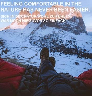 JÖKEL Isomatte Camping, Schlafmatte Leicht kleines packmaß, Aufblasbare Bequem Luftmatratze, Grau Faltbar und Kompakt, Ultraleicht-e, Trag und Klappbar Liegematte, für Outdoor Wandern und Camping - 7