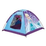 John 75108 Kid's Gartenzelt Die Eiskönigin Spielzelt, Campingzelt, Kinderzelt, Outdoorzelt mit gedrucktem Motiv für Kinder, Blau - 1
