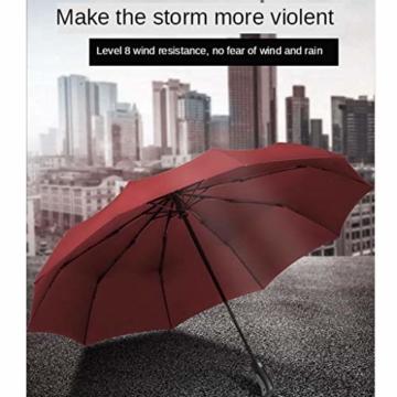 joyMerit Kompakter Regenschirm Einfarbiger winddichter Reiseschirm Regen- und windabweisend Kompakt und leicht für Geschäftsreisende und Reisende - Schwarz - 3