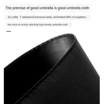 joyMerit Kompakter Regenschirm Einfarbiger winddichter Reiseschirm Regen- und windabweisend Kompakt und leicht für Geschäftsreisende und Reisende - Schwarz - 5