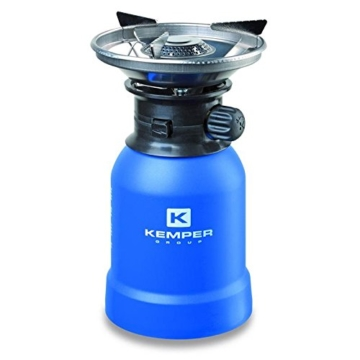 Kemper Gas Campingkocher Gaskocher Windschutz mit Piezo-Zündung für 190 g Kartuschen - 1