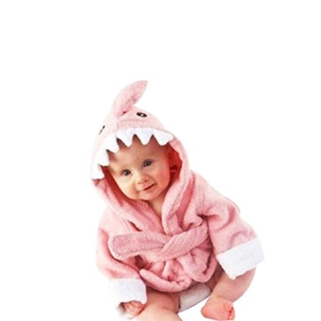 Kinder Bademäntel Baby Cotton Animal Bade Strickjacke Cardigan Nightgown Spa Handtuch Strandtuch (Löwe) (Dinosaur, S) - 1