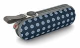 Knirps Taschenschirm X1 Dots – Der kleinste Regenschirm von Knirps – Leicht und sturmfest – Navy Dot - 1