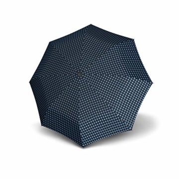 Knirps Taschenschirm X1 Dots – Der kleinste Regenschirm von Knirps – Leicht und sturmfest – Navy Dot - 4