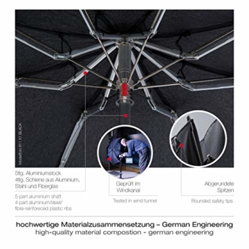 Knirps Taschenschirm X1 Dots – Der kleinste Regenschirm von Knirps – Leicht und sturmfest – Navy Dot - 6