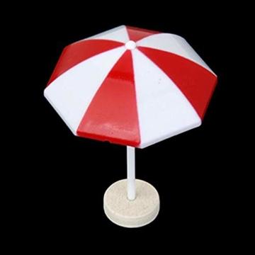 Kongnijiwa Miniatur-Strandschirm PVC-Dekoration Micro Landschaft Bonsai Puppenstuben Ornaments Backen Dekor - 4