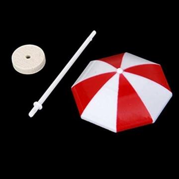 Kongnijiwa Miniatur-Strandschirm PVC-Dekoration Micro Landschaft Bonsai Puppenstuben Ornaments Backen Dekor - 6