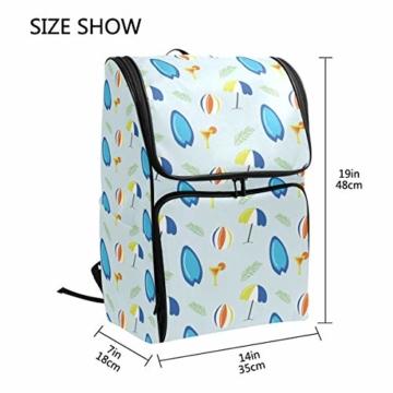 Laptop-Rucksack für den Sommer, Surfbretter, Strandschirm, große Kapazität, Reisetasche - 6