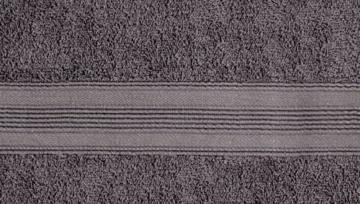 leevitex 4er Pack Frottier Handtücher/Handtuch Set 50 x 100 cm - Qualität 500 g/m² - 100% Baumwolle in viele modernen Farben (Anthrazit/Grau) - 2