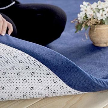 Loartee korallenrote Samtmatte, Teppich, als Krabbeldecke fürs Kind, Yogamatte und Übungsauflage geeignet - 4