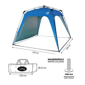 Lumaland Outdoor Pop Up Pavillon Gartenzelt Camping Partyzelt Zelt robust wasserdicht Blau - 2
