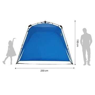 Lumaland Outdoor Pop Up Pavillon Gartenzelt Camping Partyzelt Zelt robust wasserdicht Blau - 3