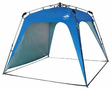 Lumaland Outdoor Pop Up Pavillon Gartenzelt Camping Partyzelt Zelt robust wasserdicht Blau - 1