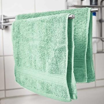 Lumaland Premium 4er Set Handtücher 50 x 100 cm aus 100% Baumwolle 500 g/m² mit Aufhänger eisblau - 3