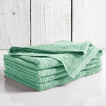 Lumaland Premium 4er Set Handtücher 50 x 100 cm aus 100% Baumwolle 500 g/m² mit Aufhänger eisblau - 4