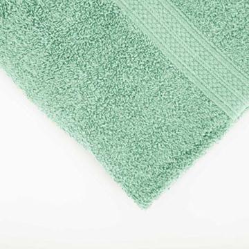 Lumaland Premium 4er Set Handtücher 50 x 100 cm aus 100% Baumwolle 500 g/m² mit Aufhänger eisblau - 9