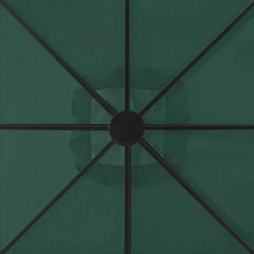 madera Doppelsonnenschirm mit 2 Schirmdächern 300 x 300 cm Grün - 2