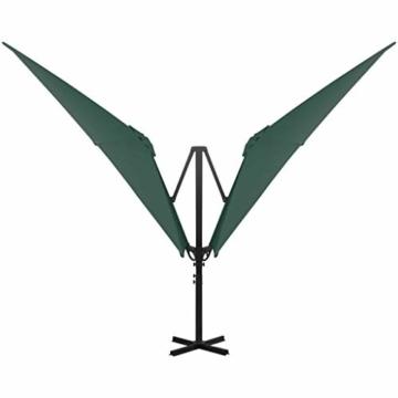 madera Doppelsonnenschirm mit 2 Schirmdächern 300 x 300 cm Grün - 6