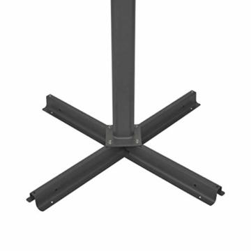 madera Doppelsonnenschirm mit 2 Schirmdächern 300 x 300 cm Grün - 9