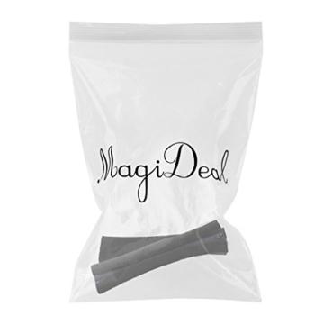 MagiDeal 1 Paar Armlehnen Polster für Bürostuhl Schreibtischstuhl, Armlehnen Kissen für Ellenbogen - Schwarz - 2