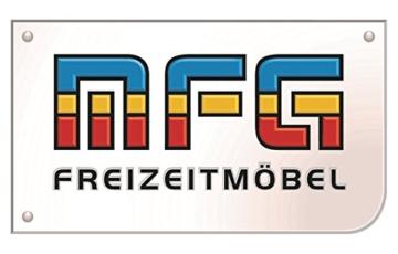 MFG 2-teilige Hollywoodschaukel Auflage Anna, 160 x 50 x 10 cm, Uni rot - 5