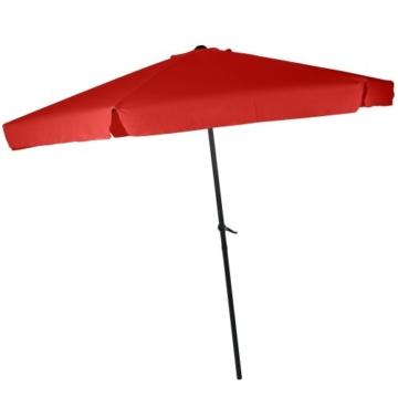 MIADOMODO Sonnenschirm in Ø 2,5m / 3m / 3,5m - in Farbwahl, Wasserabweisender Schirmbezug, mit Krempe und Kurbel, aus Stahlrohr - Marktschirm, Gartenschirm, Terrassenschirm, Ampelschirm (Ø 3 m, Rot) - 3