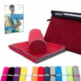 Mikrofaser Handtuch Set - Microfaser Handtücher für Sauna, Fitness, Sport I Strandtuch, Sporthandtuch I Rot | M(110x50cm) - 1