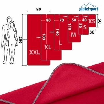 Mikrofaser Handtuch Set - Microfaser Handtücher für Sauna, Fitness, Sport I Strandtuch, Sporthandtuch I Rot | M(110x50cm) - 4