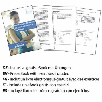 Mikrofaser Handtuch Set - Microfaser Handtücher für Sauna, Fitness, Sport I Strandtuch, Sporthandtuch I Rot | M(110x50cm) - 7