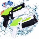 MOZOOSON Spielzeug für ab 3 Jahr Kinder, 2 Pack Wasserpistolen mit 2x400ml Kapazität, Klein Spritzpistole mit Langer Reichweiter für Kinder Mädchen Junge - 1