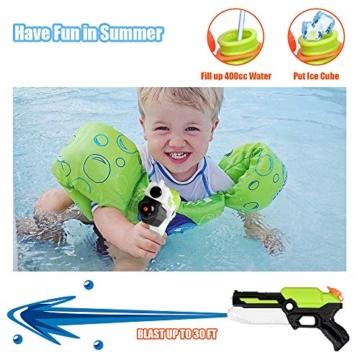 MOZOOSON Spielzeug für ab 3 Jahr Kinder, 2 Pack Wasserpistolen mit 2x400ml Kapazität, Klein Spritzpistole mit Langer Reichweiter für Kinder Mädchen Junge - 4