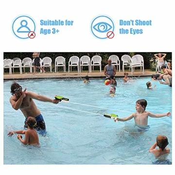 MOZOOSON Spielzeug für ab 3 Jahr Kinder, 2 Pack Wasserpistolen mit 2x400ml Kapazität, Klein Spritzpistole mit Langer Reichweiter für Kinder Mädchen Junge - 5