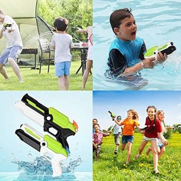 MOZOOSON Spielzeug für ab 3 Jahr Kinder, 2 Pack Wasserpistolen mit 2x400ml Kapazität, Klein Spritzpistole mit Langer Reichweiter für Kinder Mädchen Junge - 6