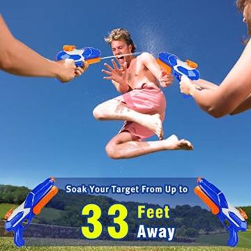 MOZOOSON Wasserpistole Spielzeug für Kinder mit Langer Reichweiter 600ml Freezefire für Kinder Mädchen Junge ab 3 Jahr 10-12 Meter Reichweiter für Eiswürfel Geeignet - 2