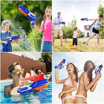 MOZOOSON Wasserpistole Spielzeug für Kinder mit Langer Reichweiter 600ml Freezefire für Kinder Mädchen Junge ab 3 Jahr 10-12 Meter Reichweiter für Eiswürfel Geeignet - 4