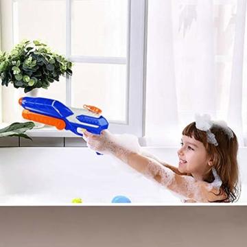 MOZOOSON Wasserpistole Spielzeug für Kinder mit Langer Reichweiter 600ml Freezefire für Kinder Mädchen Junge ab 3 Jahr 10-12 Meter Reichweiter für Eiswürfel Geeignet - 5